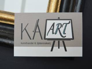 Brandaris vormgeving portfolio Kaart Kunsthandel en lijstenmakerijl