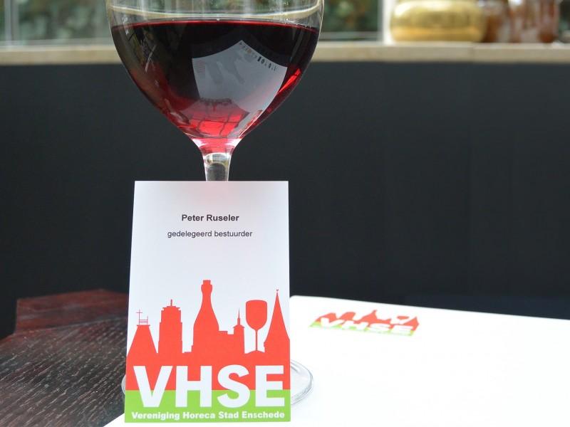 Brandaris vormgeving logo VHSE Vereniging Horeca Stad Enschede visitekaart huisstijl